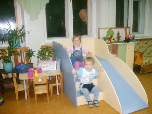 Детская горка своими руками для детского сада